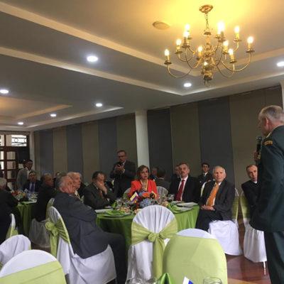Visita del Comandante General de las Fuerzas Militares el señor General Alberto Mejía Ferrero.