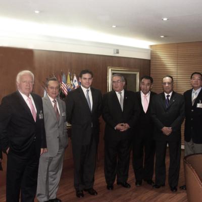 Visita del Consejo Directivo del CGA a el Ministro de Defensa Juan Carlos Pinzón Bueno. 2014