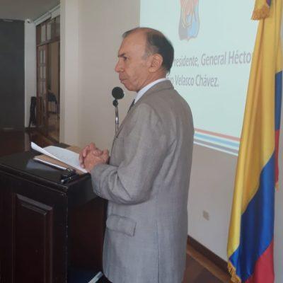 Saludo del Presidente del Cuerpo de Generales y Almirantes en retiro, señor General Héctor Fabio Velasco Chávez.