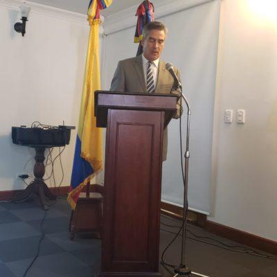 Saludo del Presidente del Cuerpo de Generales y Almirantes, Señor Vicealmirante Luis Alberto Ordóñez Rubio