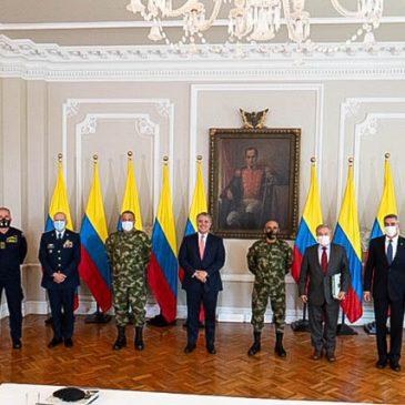 Reunión en conjunto con el Colegio de Generales de la Policía Nacional con el señor Presidente de la República Iván Duque Máquez