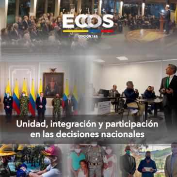 Unidad, integración y participación en las decisiones nacionales.