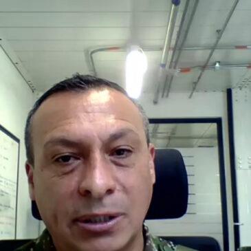 Conversatorio sobre el Proyecto Fortaleza con el señor Brigadier General Yuber Armando Aranguren, Jefe del Departamento Conjunto de Planificación y Transformación de Comando General.