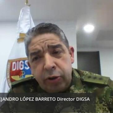 Conferencia salud Fuerzas Militares, retos y desafíos con MG Hugo Alejandro López Barreto
